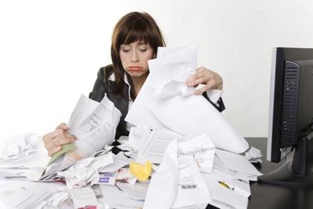 papiers en désordre